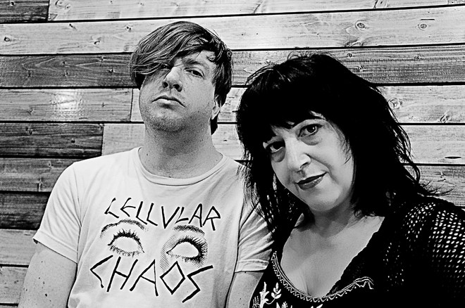 Lydia Lunch and Weasel Walter in Orlando - JIM LEATHERMAN