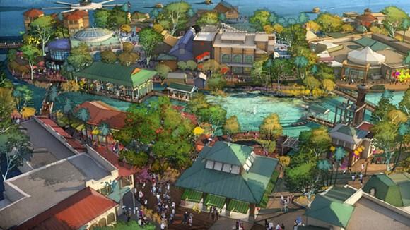 A rendering of what Disney has in store for Downtown Disney, er Disney Springs.