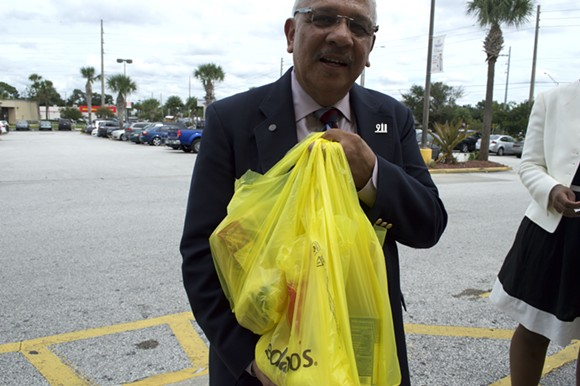 Florida Rep. Vic Torres Jr., D-Orlando, with his purchases from Sedano's.