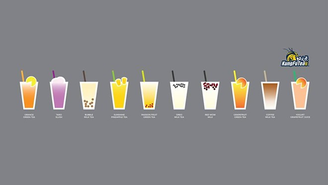 Kung Fu Tea's top 10 most popular flavors - IMAGE VIA KUNG FU TEA