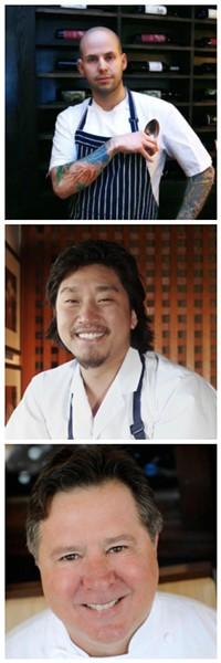 Chefs Gerard Craft, Edward Lee, and Norman Van Aken - PHOTOS VIA JBF.COM