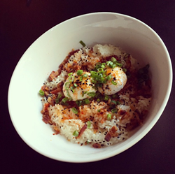Japanese breakfast bowl at Artisan's Table - PHOTO BY JESSICA BRYCE YOUNG