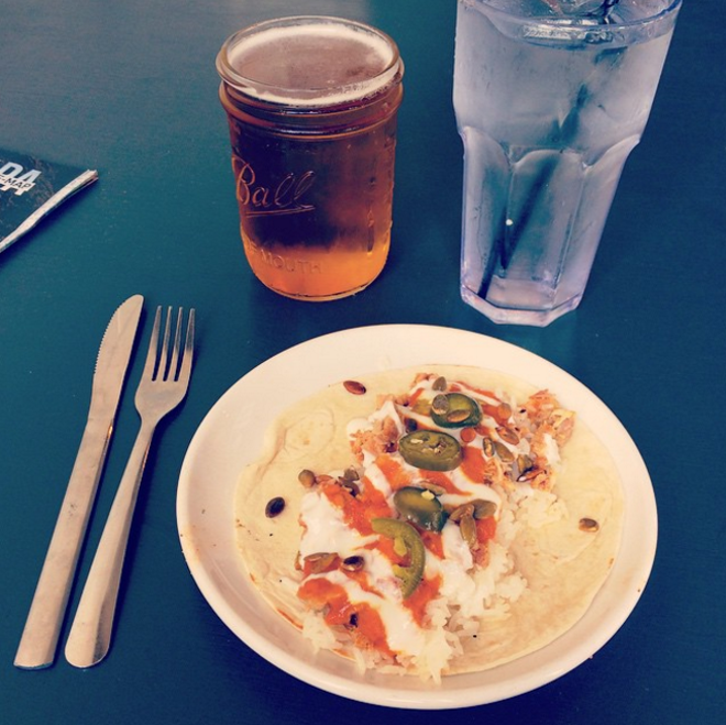Indian butter chicken taco at Pig Floyd's - PHOTO BY JESSICA BRYCE YOUNG