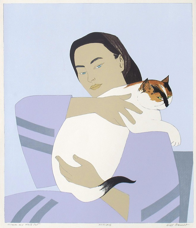 """Woman and White Cat"" by Will Barnet at Museum of Art – DeLand"
