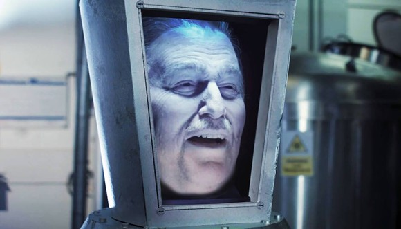 Ron Schneider as 'Walt's Frozen Head' - PHOTO COURTESY OF THE FURTHER ADVENTURES OF WALT'S FROZEN HEAD