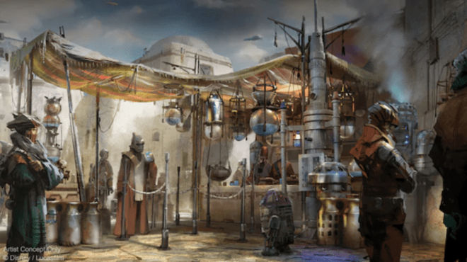 The Milk Stand, where blue and green 'milk' will be served - IMAGE VIA DISNEY