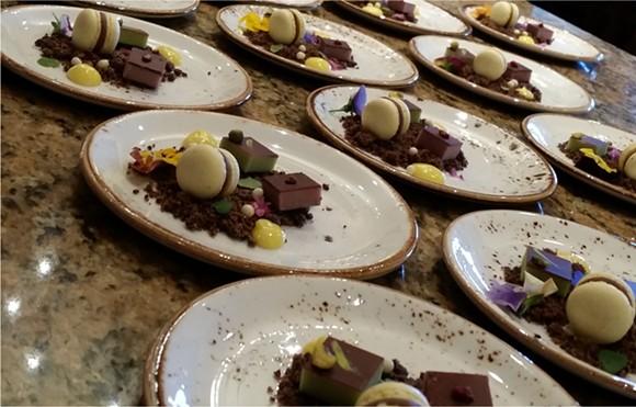 A tasting of chocolate ganache by chef Amanda Lauder (The Ganachery)