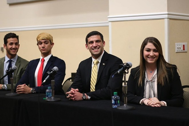 (L-R) Ali Nassereddin, Anthony Safadi, Christopher Clemente, Rachel Altfield - PHOTO BY DANIELA MARIN