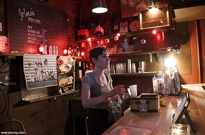 The back bar at the new-look Will's Pub - JEN CRAY