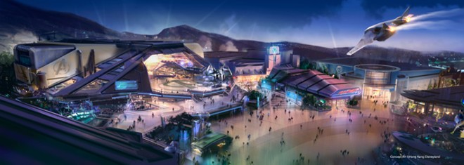 The Hong Kong Disneyland Marvel themed Tomorrowland - PHOTO COURTESY OF DISNEY PARKS BLOG