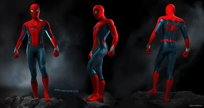 Spider-Man's updated costume, now in use at Disney California Adventure - IMAGE VIA DISNEY