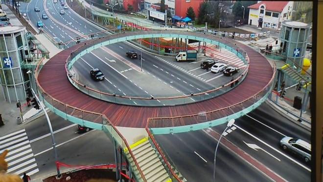 Pedestrian bridge - PHOTO VIA JOSHUA WALLACK