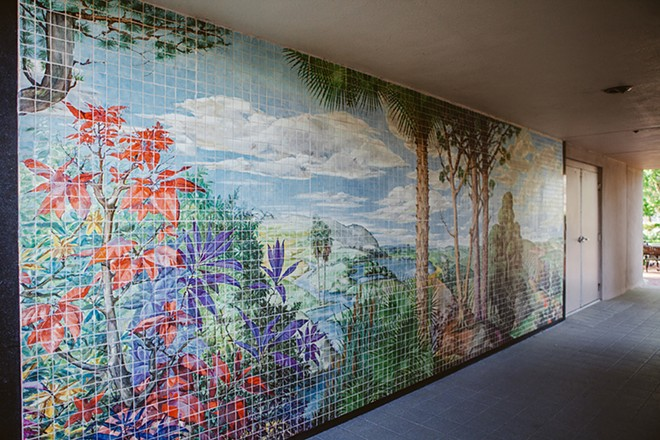 THIS MURAL BY ANTONIO ANDRÉS WAS RESCUED FROM CONSTRUCTION AND INSTALLED AT CASSELBERRY CITY HALL