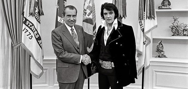 THE PREZ SHAKES HANDS WITH THE KING: REAL LIFE
