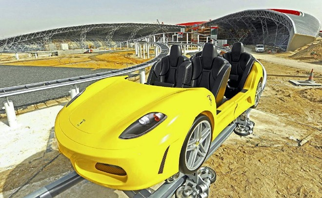 A rendering from the Abu Dhabi Ferrari theme park.