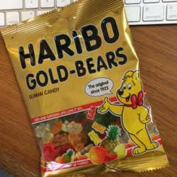 And it might have gummy bears in it, like this one did