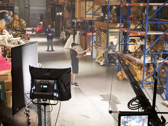 An exclusive image from behind the scenes of the new Ripley's Believe It or Not television series being filmed in Orlando - IMAGE VIA RIPLEY ENTERTAINMENT