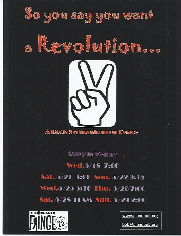 So You Say You Want a Revolution at the Orlando Fringe