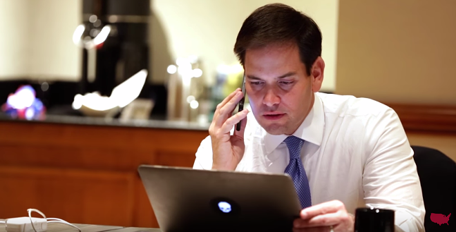 SCREENGRAB BY MARCO RUBIO CAMPAIGN VIA YOUTUBE
