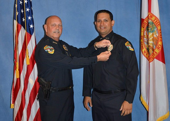 PHOTO OF OFFICER NOUMAN RAJA, RIGHT, VIA HEAVY