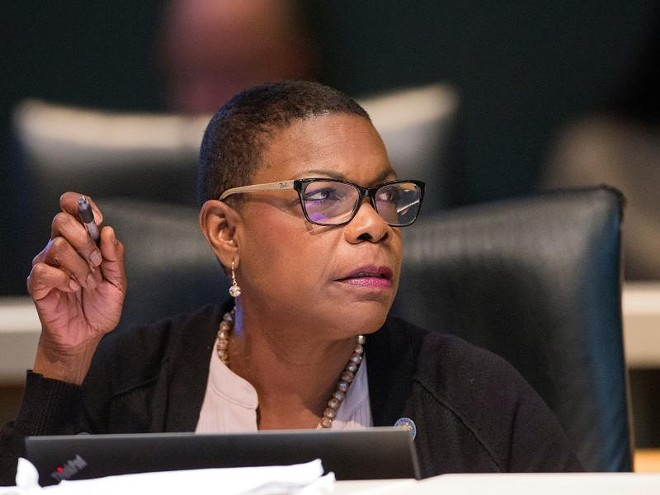 SENATE MINORITY LEADER AUDREY GIBSON (PHOTO VIA NEWS SERVICE OF FLORIDA)