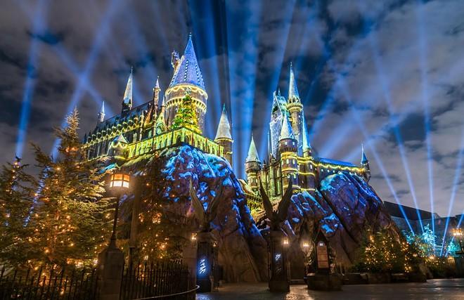 Hogwarts Castle will celebrate 'The Magic of Christmas' again at Universal Orlando starting Nov. 16. - PHOTO VIA UNIVERSAL