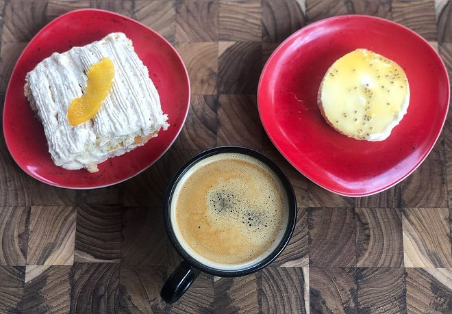 Super Rico's new Tres Leches dessert and Maracuya mousse. - PHOTO VIA SUPER RICO COLOMBIAN BISTRO/FACEBOOK