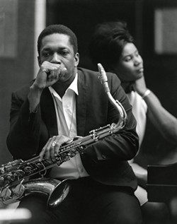John and Alice Coltrane, 1966. - PHOTO BY CHUCK STEWART