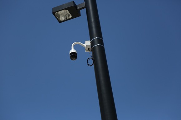A surveillance camera in downtown Orlando. - PHOTO BY JOEY ROULETTE