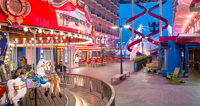 The Boardwalk neighborhood on Royal Caribbean's Symphony of the Seas - IMAGE VIA ROYAL CARIBBEAN