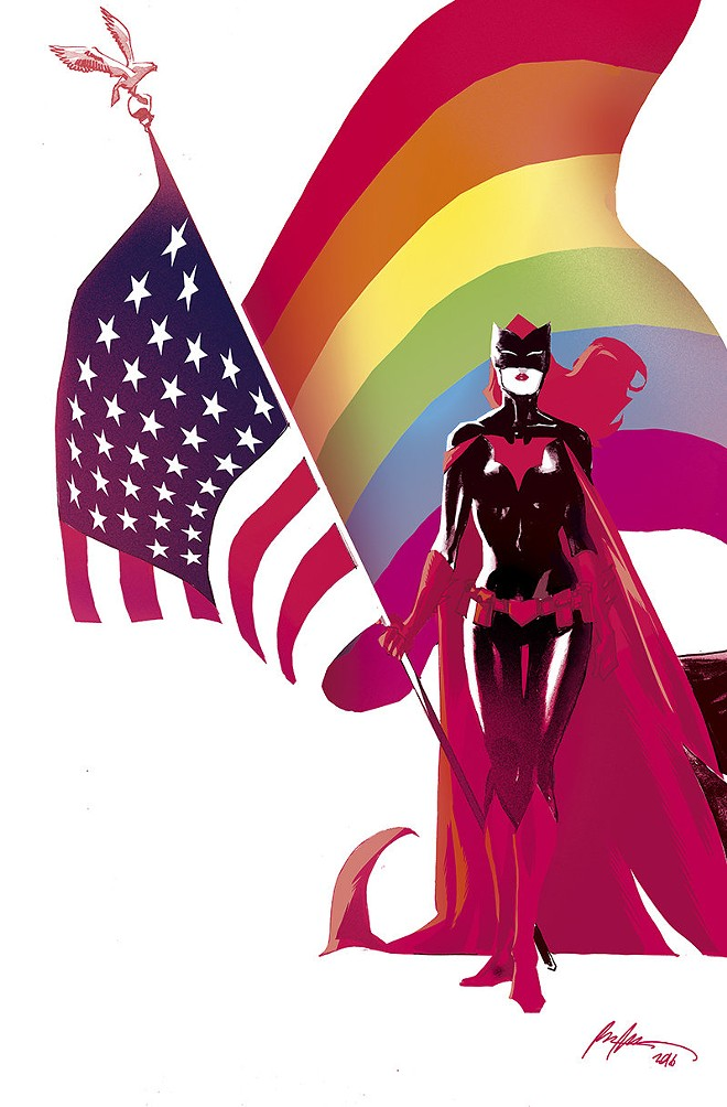 """ILLUSTRATION BY RAFAEL ALBUQUERQUE VIA THE NEW YORK TIMES FOR THE """"LOVE IS LOVE"""" COMIC BOOK"""