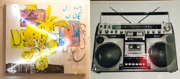 L: 'Anarchy Painting'; R: 'Boombox'