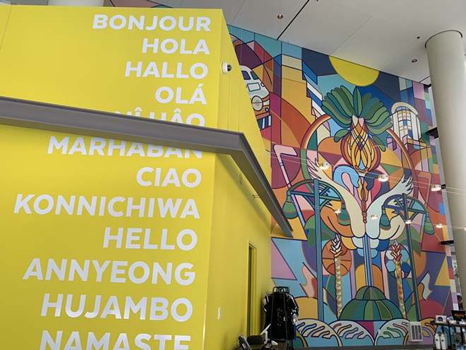A mural by local artist Boy Kong is 30 feet tall. - PHOTO BY CLARISSA MOON FOR ORLANDO WEEKLY