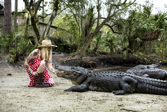 Gatorland Crocodilian Enrichment Coordinator Savannah Boan - PHOTO BY ROB BARTLETT