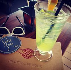 """The """"Reggie's Revenge"""" cocktail at Jock Lindsey's Hangar Bar. - HOLLY V. KAPHERR"""