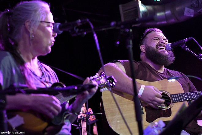 Terri Binion and Jordan Foley at Will's Pub - JEN CRAY