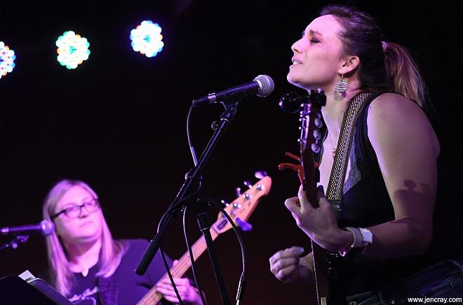 Amy Robbins and Renee Arozqueta at Will's Pub - JEN CRAY
