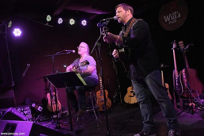 Terri Binion and Patrick Hagerman at Will's Pub - JEN CRAY