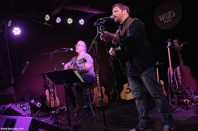 Terri Binion and Patrick Hagerman at Will's Pub - JEN CRAY
