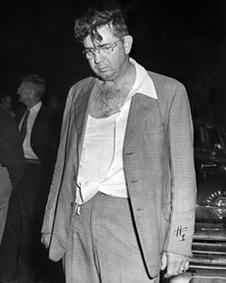 Sheriff Willis McCall at the crime scene after shooting Samuel Shepherd and Walter Irvin , 1951 - PHOTO VIA FLORIDA STATE ARCHIVES
