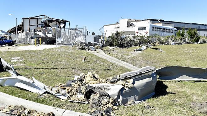 Hurricane Michael ripped through Tyndall Air Force Base near Panama City, Florida. - U.S. AIR FORCE PHOTO BY TECH. SGT. LILIANA MORENO