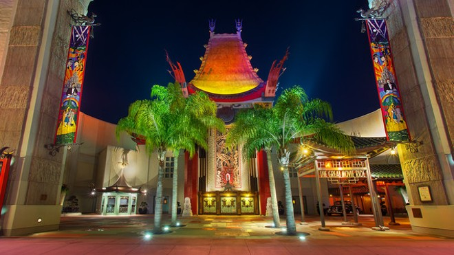 The previous entrance to the Great Movie Ride at DHS. The building will house the upcoming Mickey and Minnie's Runaway Railway attraction - PHOTO VIA DISNEY