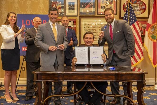 Florida Gov. Ron DeSantis signed CS/HB 19 into law June 11, 2019. - PHOTO COURTESY GOVERNOR'S PRESS OFFICE