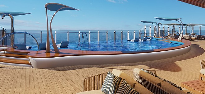 The Aft Tides infinity edge pool - IMAGE VIA CARNIVAL CRUISE LINE