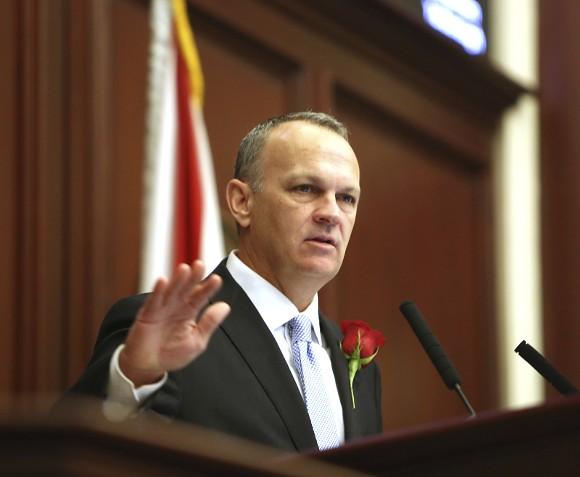 Florida Education Commissioner Richard Corcoran swearing into office, Nov. 22, 2016 - PHOTO BY SCOTT KEELER VIA WIKIMEDIA IMAGES, CREATIVE COMMONS