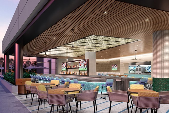 The Pool Bar & Grill at the Seminole Hard Rock Tampa - IMAGE VIA SEMINOLE HARD ROCK TAMPA