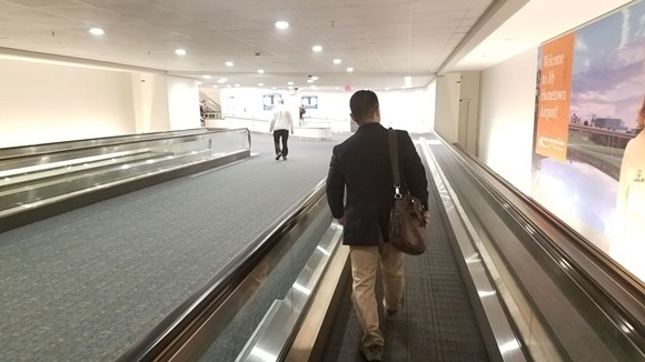 12:45 p.m. Immigration attorney Henry Lim arrives at Orlando International Airport to assist travelers being delayed by U.S. Customs and Border Protection agents. - DAVE PLOTKIN