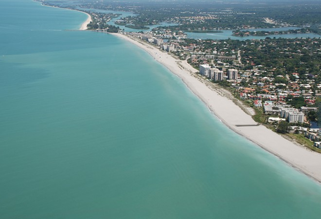 Aerial view of Venice Beach, Florida - ADOBE PHOTOS