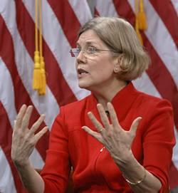 Sen. Elizabeth Warren speaking March 29, 2010, at the Women in Finance symposium - PHOTO VIA U.S. TREASURY DEPT.
