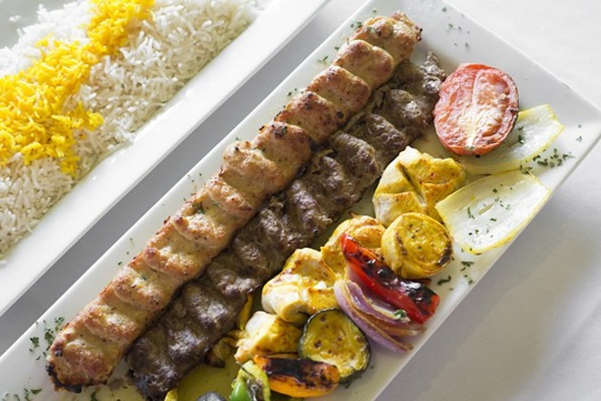 Kebab platter at Zora Grille - PHOTO BY ROB BARTLETT